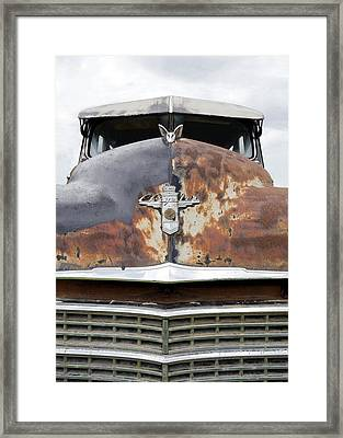 Abandoned Chrysler Framed Print by Glennis Siverson