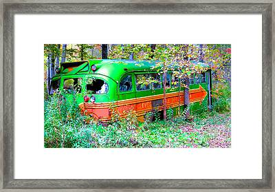 Abandoned Church Bus Framed Print