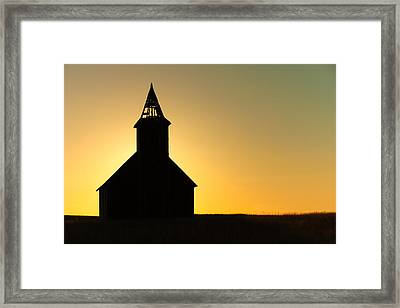 Abandoned Church Silhouette Framed Print