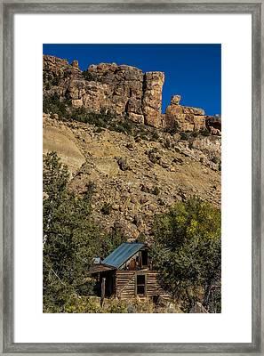 Abandoned Colorado Log Cabin Framed Print