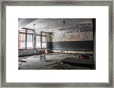 Abandoned Detroit Classroom Framed Print