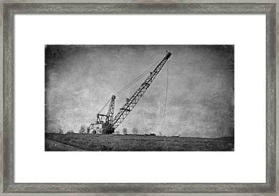 Abandoned Dragline Framed Print