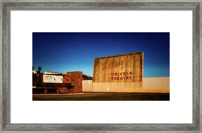 Abandoned Drive - In Theatre Framed Print