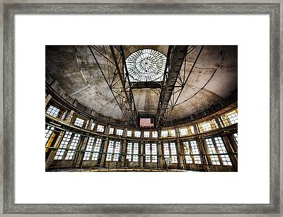 Abandoned Factory Ceiling - Industrial Decay Framed Print