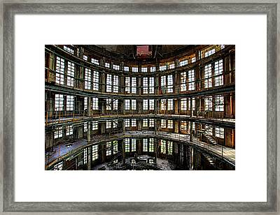 Abandoned Factory Hall - Industrial Decay Framed Print by Dirk Ercken