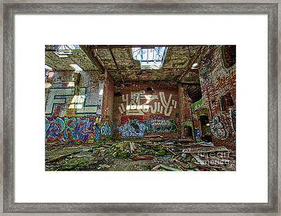 Framed Print featuring the photograph Abandoned Factory Newport New Hampshire by Edward Fielding