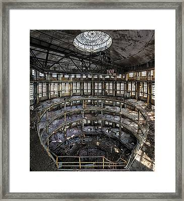 Abandoned Factory Tower - Industrial Heritage Framed Print