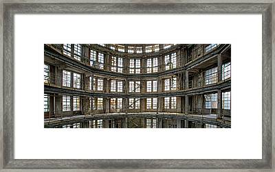 Framed Print featuring the photograph Abandoned Factory Tower - Panorama Industrial Decay by Dirk Ercken