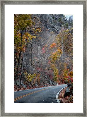Abandoned Fall Framed Print