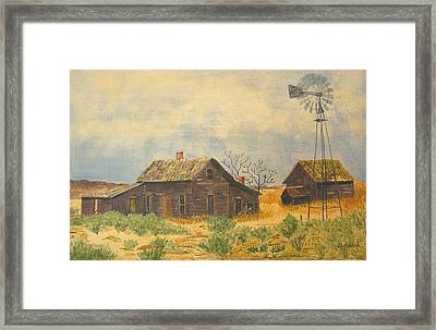 Abandoned Farm Framed Print by Ally Benbrook