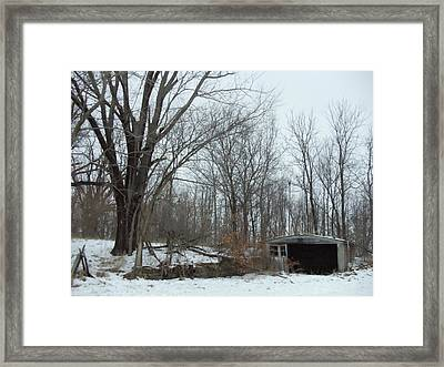 Abandoned Farm Framed Print by David Junod
