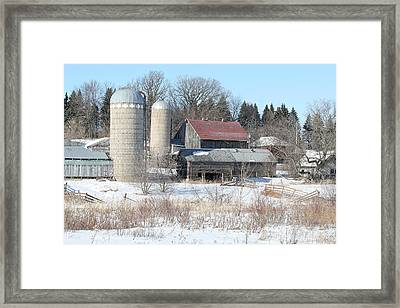 Abandoned Farm In Central Minnesota Framed Print by Laurie With