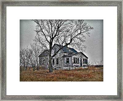 Abandoned Farmhouse Framed Print by Laurie With