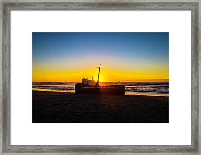 Abandoned Fishing Boat Framed Print by Garry Gay