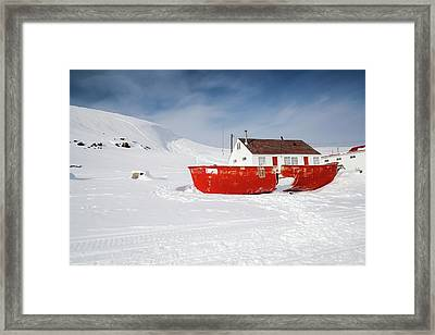 Abandoned Fishing Boat Framed Print