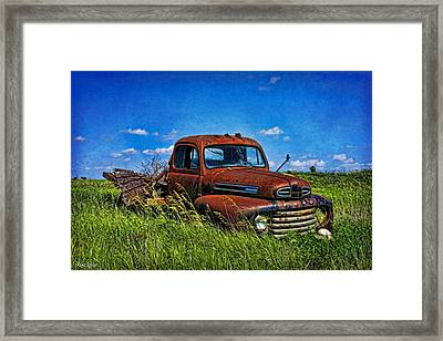 Abandoned Ford Truck In The Prairie Framed Print