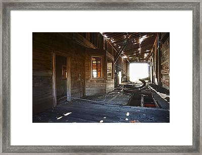 Abandoned Grain Elevator Drive Through Framed Print by Donald  Erickson