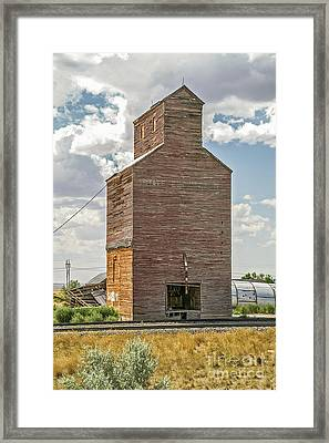 Framed Print featuring the photograph Abandoned Grain Elevator by Sue Smith