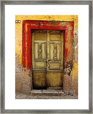 Abandoned Green Door 1 Framed Print by Mexicolors Art Photography