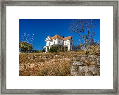 Abandoned Home In Imbodan Framed Print by Douglas Barnett
