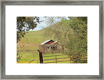 Framed Print featuring the photograph Abandoned Homestead by Art Block Collections