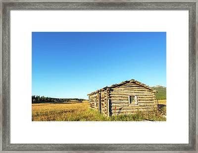 Abandoned Homestead Cabin Framed Print