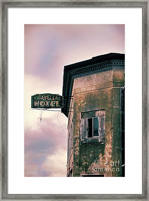 Abandoned Hotel Framed Print by Jill Battaglia
