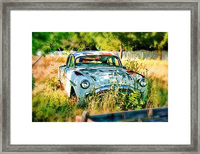 Abandoned Hotrod Framed Print by Michael Cleere