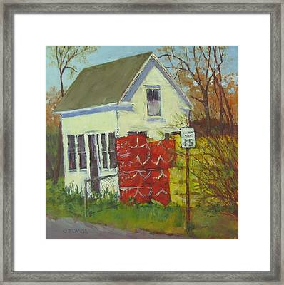 Abandoned House And New Traps Framed Print
