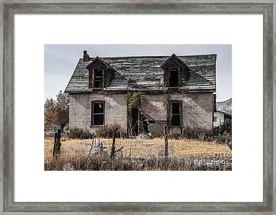 Abandoned House In Central Utah Framed Print