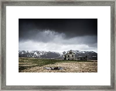 Abandoned House In Iceland Framed Print