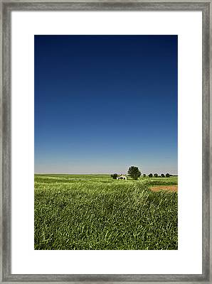 Abandoned House On Oklahoma Plain Framed Print by by Justin A. Morris