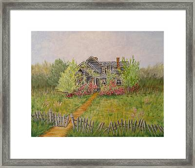 Framed Print featuring the painting Abandoned House by Quwatha Valentine
