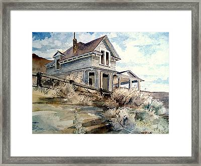 Framed Print featuring the painting Abandoned House by Steven Holder