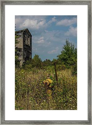 Abandoned Hydrant Framed Print