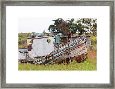 Abandoned In Moss Landing Framed Print