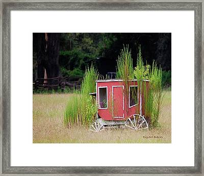 Abandoned In The Field Framed Print
