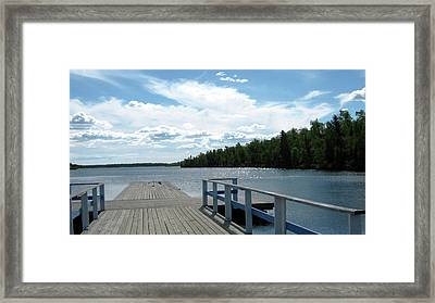 Abandoned Jetty Framed Print