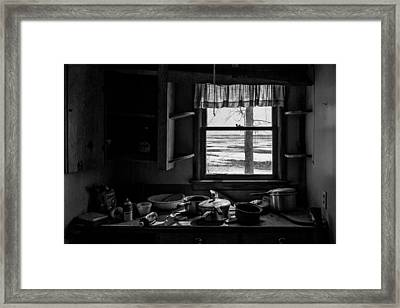 Framed Print featuring the photograph Abandoned Kitchen by Dan Traun