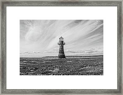 Framed Print featuring the photograph Abandoned Light House Whiteford by Edward Fielding