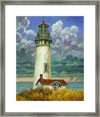 Abandoned Lighthouse Framed Print by John Lautermilch