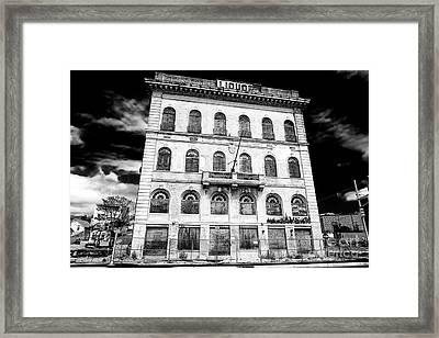 Abandoned Liquor Store Framed Print