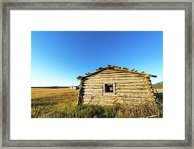 Abandoned Log Cabin Framed Print