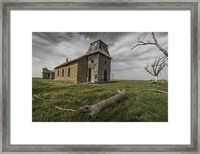 Abandoned Lutheran Church Framed Print by Chris Harris