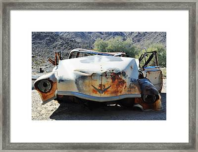 Framed Print featuring the photograph Abandoned Mojave Auto by Kyle Hanson