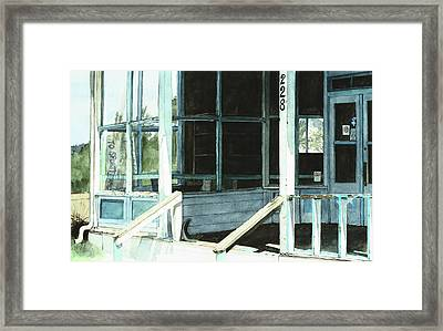 Abandoned Old Store Framed Print by Perry Woodfin