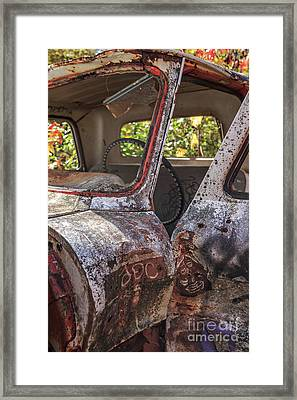 Framed Print featuring the photograph Abandoned Old Truck Newport New Hampshire by Edward Fielding