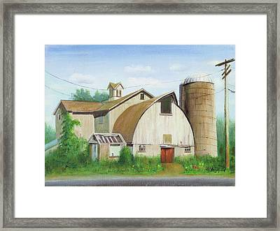 Framed Print featuring the painting Abandoned by Oz Freedgood