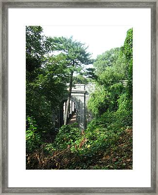 Abandoned Passage Framed Print by Tom Hefko