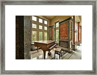 Abandoned Piano - Urban Exploration Framed Print by Dirk Ercken